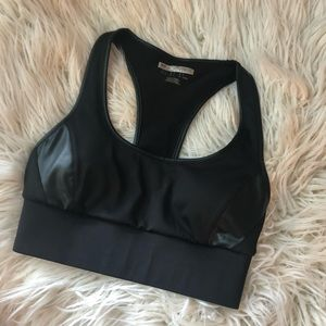 Forever 21 small faux leather sports bra